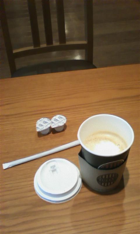 タリーズコーヒーのショートソイラテ(ホット).jpg