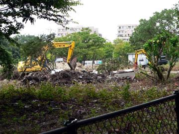 里山の家等の建設予定地09年7月25日