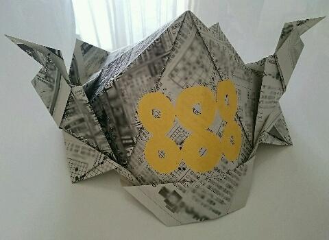 ハート 折り紙 折り紙 かぶと 新聞紙 : comacoro.jugem.jp
