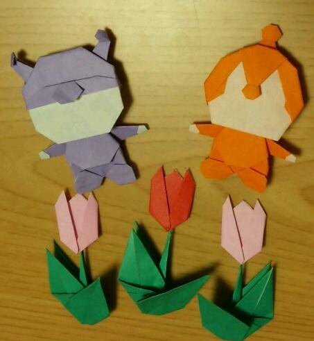 簡単 折り紙 折り紙折り方キャラクターアンパンマン : comacoro.jugem.jp