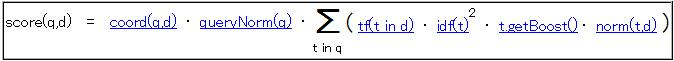 Luceneのスコア計算式