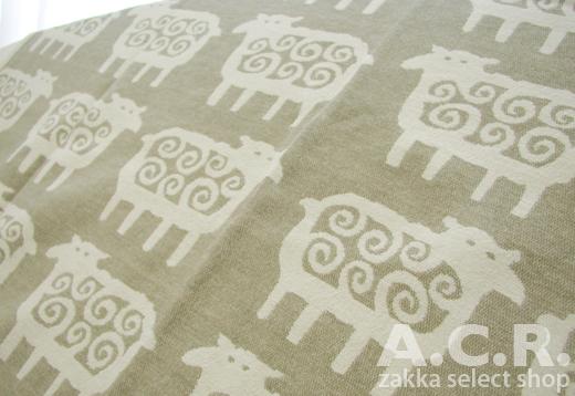 北欧 クリッパン 羊柄 コットン・シェニール ブランケット