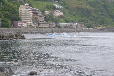 漁港からの北川温泉街