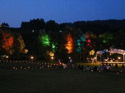 川っぺり音楽祭のステージ&ライトアップ