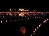 生誕地まつり前夜祭 大池灯籠流し 2007.10.14