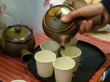 知覧茶の試飲やってます