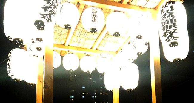 佃島盆踊保存会の白張提灯