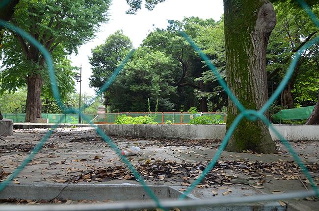 上野こども遊園地の跡/2017年8月18日