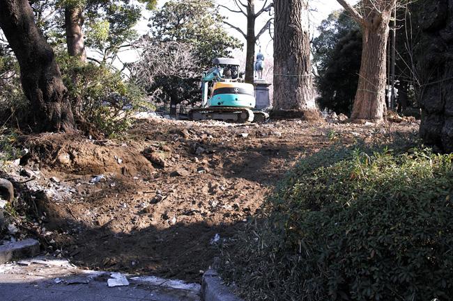 上野こども遊園地の跡の工事
