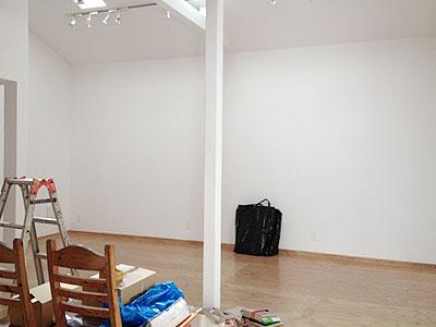 展示前のイロリムラα展示室