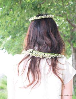 冠,シロツメ草
