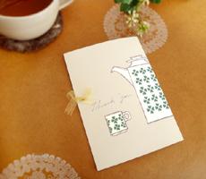 ティーバッグ付き紅茶カード