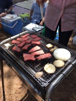 炭火 バーベキュー 肉