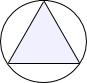円と正三角形の重心