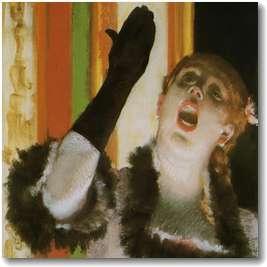 エドガー・ドガ「手袋をした歌手」