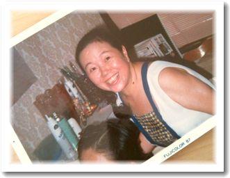 現役美容師だったころの母の写真