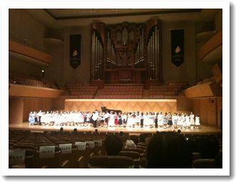 ピアノコンクールの表彰式