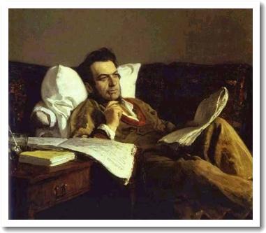 ロシアの作曲家ミハイル・グリンカの肖像画