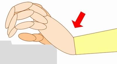 ピアノと手首の角度