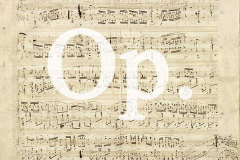 楽譜の作品番号「Op.」とは?