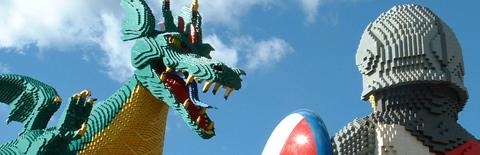 レゴのドラゴンと騎士
