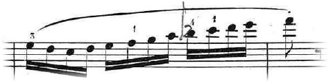 スラーによるフレーズの例 - ブルグミュラー「25の練習曲 Op.100 No.5 無邪気 - Innocence」より