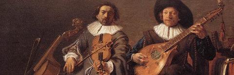 弦楽器による二重奏の絵画