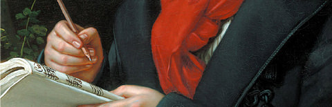 ベートーヴェンの肖像画の一部