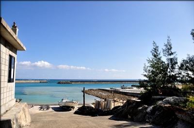 真っ青な海が広がる景色