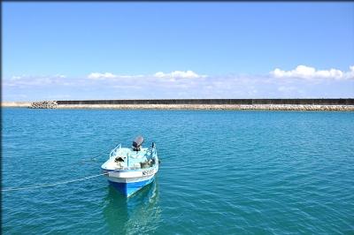 ボートときれいな海
