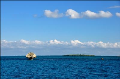 帰りのフェリーで見た海の景色
