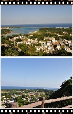 宮城島の高台から見た景色
