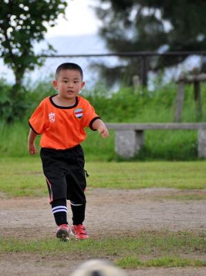 ダイのサッカーの試合デビュー