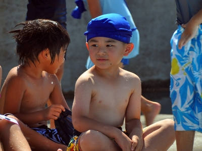 ダイの幼稚園のプール