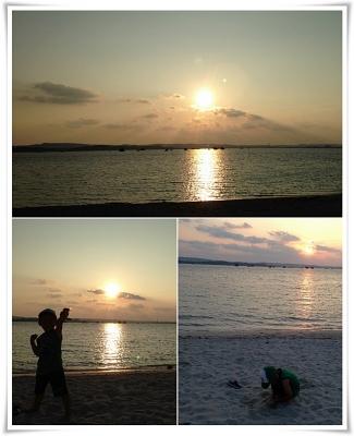 浜比嘉島の夕陽
