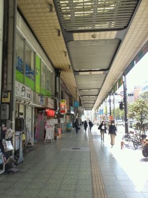 甲府駅の商店街
