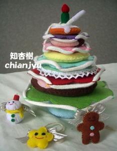 全部手縫いのフェルト壁掛けクリスマスツリー☆アドベントカレンダータイプ