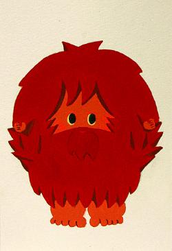 キャラクターイラストドーンマンの画像