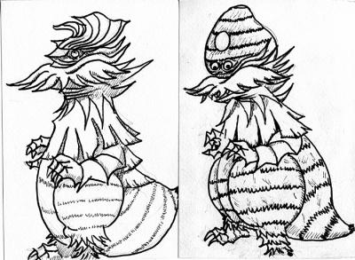 芋怪獣 Taroのデザイン画像