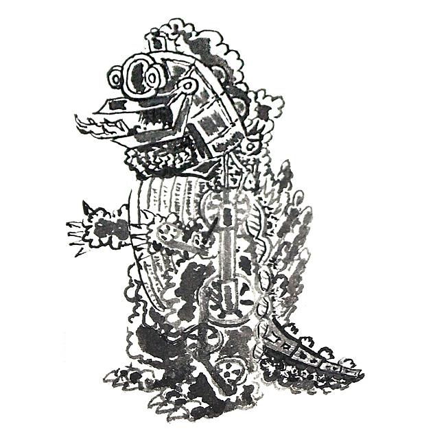 蒸気怪獣ロコラーデザイン画の画像