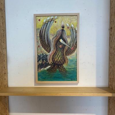 アマビエキャンバス画の画像