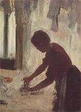 ドガ 1873年 「洗濯女」 当時 デュラン=リュエルが購入したものではないかと思われる。年代からしてゾラがインスピレーションを受けた作品とも思われる。