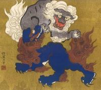 酒井抱一 唐獅子図