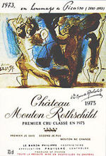 Picasso memorial wine label