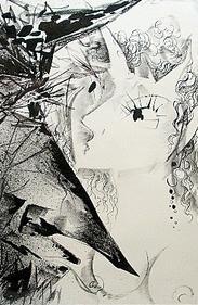 Lithograph Heinz Werner「TEUFELEI」