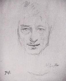 画像引用:バルテュスの優雅な生活 新潮社 66p バルテュス 「アルベルト・ジャコメッティの肖像」(1950)