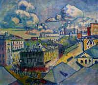 Moscow. Zubovskaya Square. 1916. Study.(モスクワ) The Tretyakov Gallery, Moscow(トレチャコフ美術館所蔵)非対象絵画から幾何学的抽象への過渡期の作品
