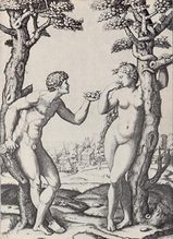 Marcantonio Raimondi  Adam and Eva 1534年