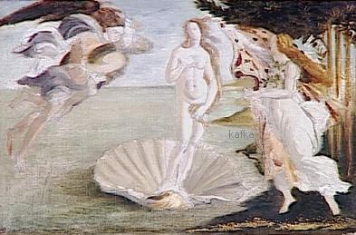 Moreau Gustave - Copie daprès Botticelli : Naissance de Vénus