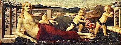 Botticelli Sandro - Vénus et trois putti 年代不詳